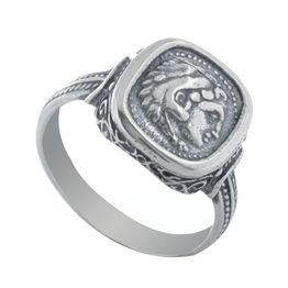 Ανδρικό δαχτυλίδι από ασήμι με τον Μέγα Αλέξανδρο