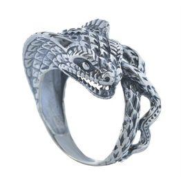Ανδρικό δαχτυλίδι με κόμπρα από ασήμι