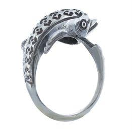 Ανδρικό δαχτυλίδι με δελφίνι από ασήμι