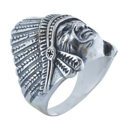 Ανδρικό δαχτυλίδι με ινδιάνο από ασήμι