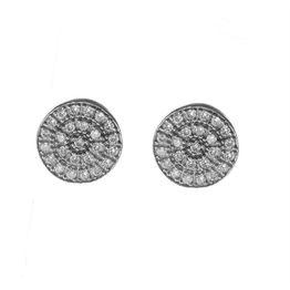 Σκουλαρίκια γυναικεία κύκλοι από ασήμι με πέτρες ζιργκόν