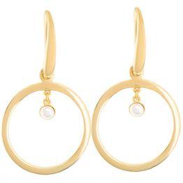 Σκουλαρίκια σκουλαρίκια κρεμαστά από επιχρυσωμένο ασήμι με μαργαριτάρι