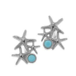Σκουλαρίκια από ασήμι 925 με πέτρα ζιργκόν