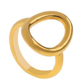 Δαχτυλίδι από επιχρυσωμένο ασήμι οβάλ