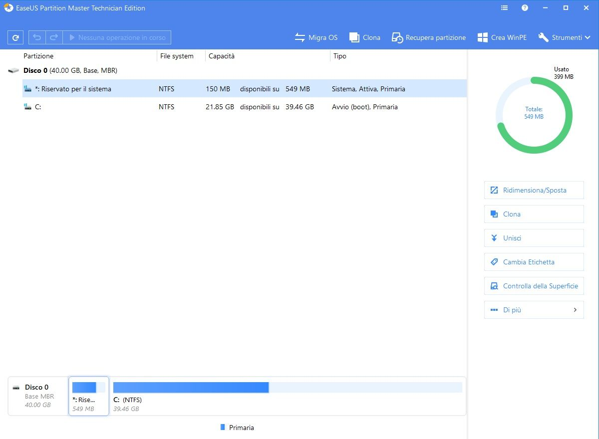 EaseUS Partition Master 13.8 All Editions - ITA