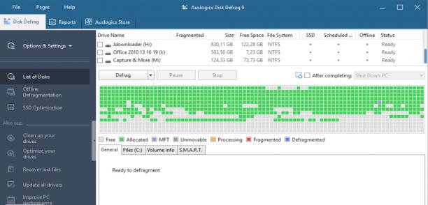 Auslogics Disk Defrag Professional v9.2.0.2 - ENG