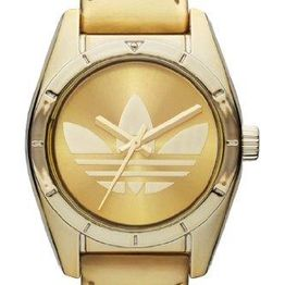 ADIDAS - Mini Santiago - ADH2779 Gold case with Gold Leather Strap