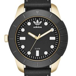 ADIDAS Stan Originals - ADH3039, Gold case with Black Leather Strap