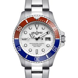 AQUADIVER Water Master - 14584281 , Silver case with Stainless Steel Bracelet