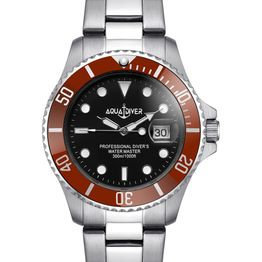 AQUADIVER Water Master - 14584286 , Silver case with Stainless Steel Bracelet