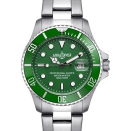 AQUADIVER Water Master - 14584287 , Silver case with Stainless Steel Bracelet