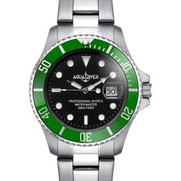 AQUADIVER Water Master - 14584288, Silver case with Stainless Steel Bracelet