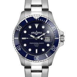 AQUADIVER Water Master - 14584294 , Silver case with Stainless Steel Bracelet