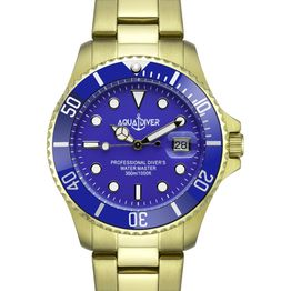 AQUADIVER Water Master - 14584584 , Gold case with Stainless Steel Bracelet