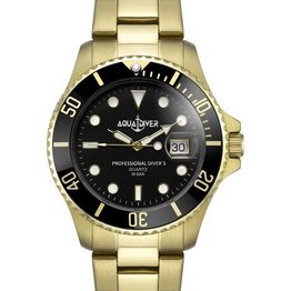AQUADIVER Water Master - 14584596 , Gold case with Stainless Steel Bracelet