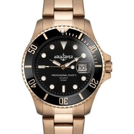 AQUADIVER Water Master - 74025396 , Rose Gold case with Stainless Steel Bracelet
