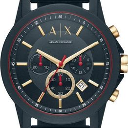 ARMANI EXCHANGE Chronograph - AX1335, Blue case with Blue Rubber Strap