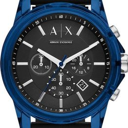 ARMANI EXCHANGE Chronograph - AX1339, Blue case with Black Rubber Strap