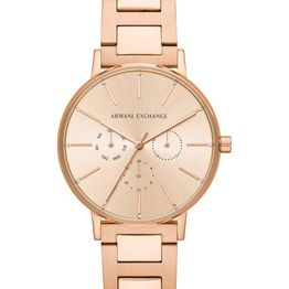 ARMANI EXCHANGE Lady Crystals - AX5552 Rose Gold case with Stainless Steel Bracelet