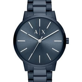 ARMANI EXCHANGE Mens - AX2702, Blue case with Stainless Steel Bracelet