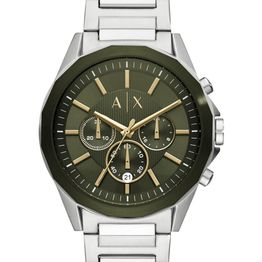ARMANI EXCHANGE Mens Chronograph - AX2616, Silver case with Stainless Steel Bracelet