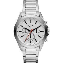 ARMANI EXCHANGE Mens Chronograph - AX2624, Silver case with Stainless Steel Bracelet