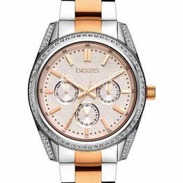 BREEZE Floris Crystals - 712201.4 Silver case with Stainless Steel Bracelet