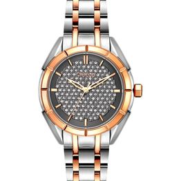 BREEZE Gemstonia Crystals - 712181.6 Silver case with Stainless Steel Bracelet