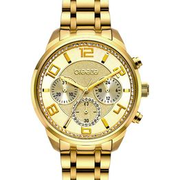 BREEZE Myrina Crystals - 212211.1 Gold case with Stainless Steel Bracelet