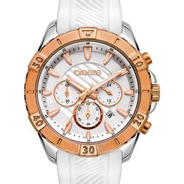 BREEZE Sugarcoat Chronograph - 112231.4 Rose Gold case with White Rubber Strap