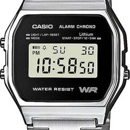 CASIO Collection - A-158WEA-1EF, Silver case with Stainless Steel Bracelet
