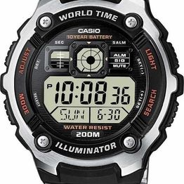 CASIO Collection - AE-2000WD-1AVEF, Silver case with Stainless Steel Bracelet
