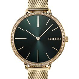 GREGIO Alisa Crystals - GR200021, Silver case with Stainless Steel Bracelet