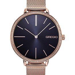 GREGIO Alisa Crystals - GR200031, Rose Gold case with Stainless Steel Bracelet