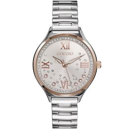 GREGIO Anette Crystals - GR230011, Silver case with Stainless Steel Bracelet