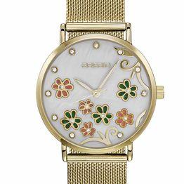 GREGIO Corinne Crystals - GR260020, Gold case with Stainless Steel Bracelet