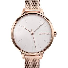 GREGIO Fiorella - GR220030, Rose Gold case with Stainless Steel Bracelet