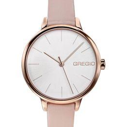 GREGIO Fiorella - GR220080 Rose Gold case with Beige Leather Strap