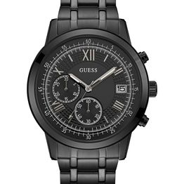 GUESS Chrono - W1001G3, Black case with Stainless Steel Bracelet