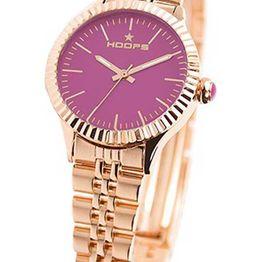 Hoops Luxury Gold - 2560LGA09 Rose Gold case, with Rose Gold Metallic Bracelet
