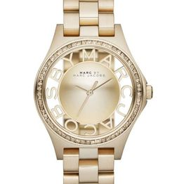 MARC BY MARC JACOBS Henry Glitz - MBM3338, Gold case with Stainless Steel Bracelet
