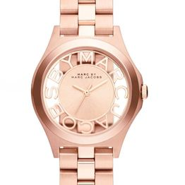MARC BY MARC JACOBS Henry Skeleton - MBM3293, Rose Gold case with Stainless Steel Bracelet