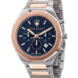 MASERATI Stile Chronograph - R8873642002 Silver case with Stainless Steel Bracelet
