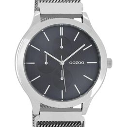OOZOO Q3 - C10686, Silver case with Stainless Steel Bracelet