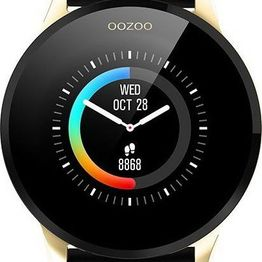 OOZOO Smartwatch - Q00120, Gold case with Black Rubber Strap