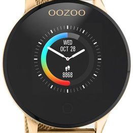 OOZOO Smartwatch - Q00121, Gold case with Gold Metal Strap