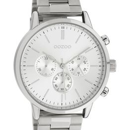 OOZOO Timepieces - C10545, Silver case with Stainless Steel Bracelet