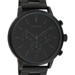 OOZOO Timepieces - C10549, Black case with Stainless Steel Bracelet
