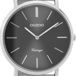 OOZOO Timepieces Vintage - C9937, Silver case with Metal Strap