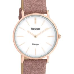 OOZOO Vintage - C20157, Rose Gold case with Pink Leather Strap